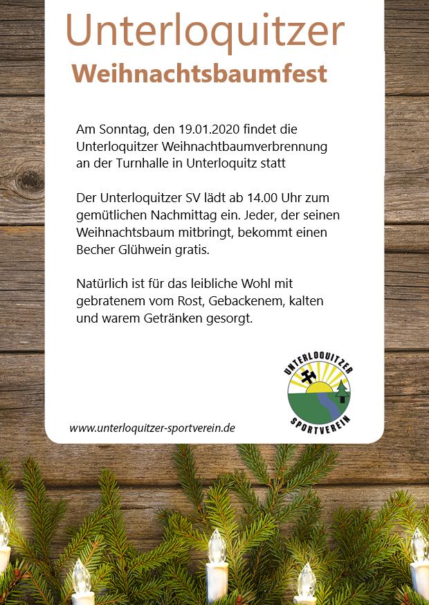 Flyer Weihnahtsbaumfest